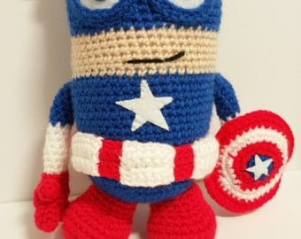 CAPTAIN AMERICA DOLL  8 inches inspired superhero usa dc marvel avengers usa eeuu