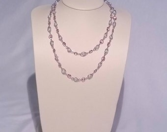 Purple and Caged Pearl Necklace