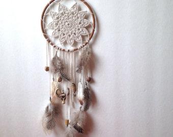 Dreamcatcher N. 1 | Crochet accessories | Crochet dreamcatcher | Handmade doily | feathers accessory | Crochet doily | Boho dreamcatcher |