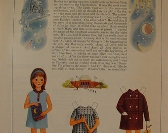 1967 Betsy McCall Goes to the Planetarium Paperdoll