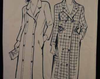 Sewing Pattern Woman's Weekly B953 for a Woman's Double Breasted Coat in Size 10-20