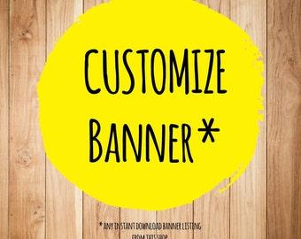 Customize banner