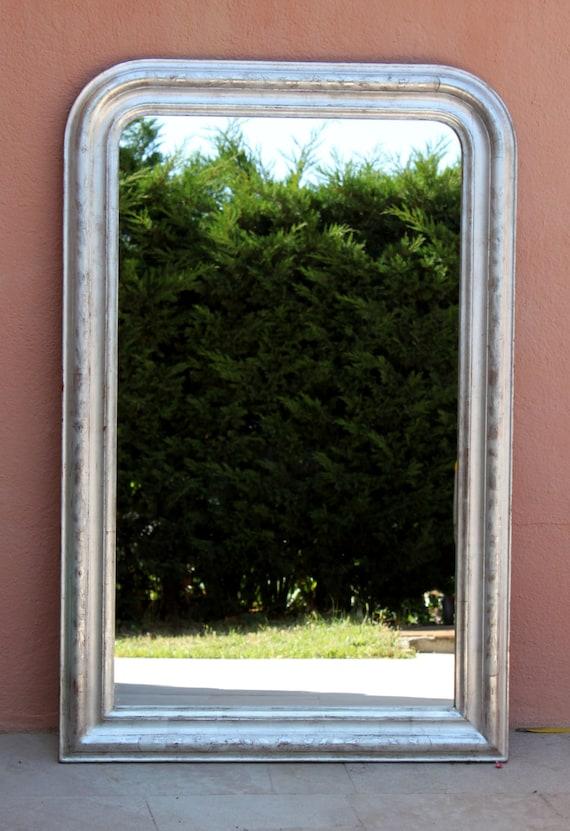Miroir vintage argent de style louis philippe for Miroir louis philippe