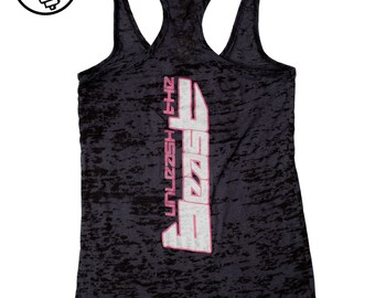 CLEARANCE SALE Women's Fitness Tank Top. Workout Tank. Fun Gym Tank Top. Burnout lightweight printed tank. Unleash The Beast Tank Top
