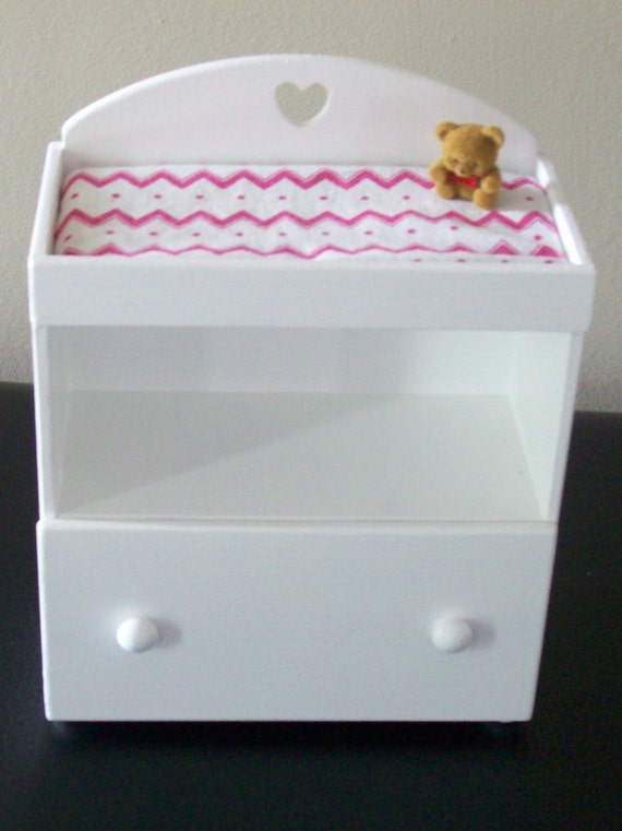 White 1 6 scale changing table 1 6 scale nursery 1 6 scale for 1 6 scale table