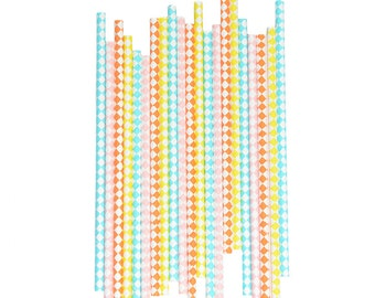 25 paper straws CIRCUS - Party Supplies for CIRCUS PARTY