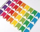 32 matte flag stickers, dot stickers, banner bunting, life planner stickers, scrapbook sticker, reminder checklist sticker