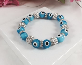 Evil Eye Bracelet - Hamsa - Evil Eye Proection - Nazar Protection - Turkish Evil Eye - Shamballa Bracelet - Perfect Gift