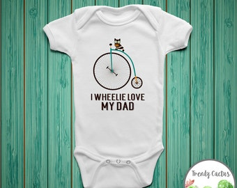 First Father's Day Onesie, Fathers Day Onesie, I Wheelie Love My Dad, Father's Day Shirt, Gift for New Dad, Fathers Day Gift From Baby