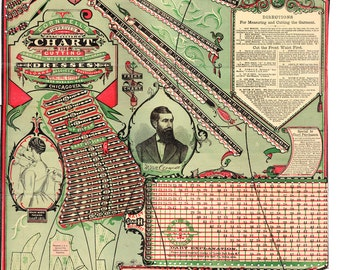Victorian pattern drafting templates / system - PDFs for you to print and use at home - instant download