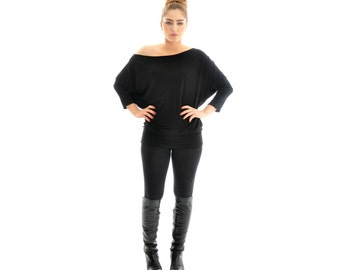 Plus Size Tunic Top- Women plus size clothing, Long sleeve oversize tunic