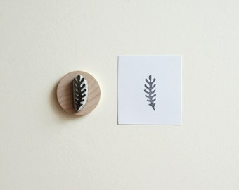 Little Seaweed - Hand Carved Rubber Stamp