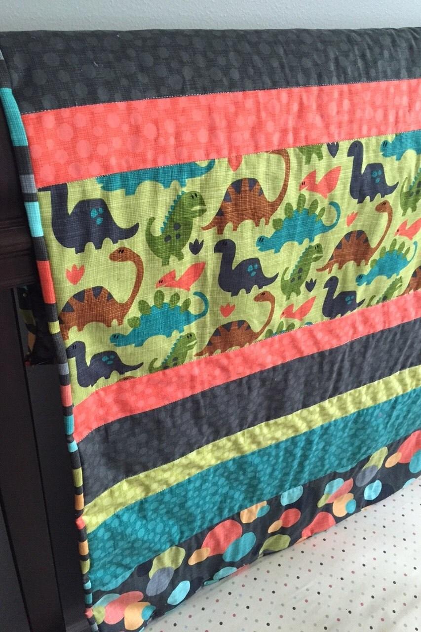 Baby Boy Quilt Dinosaurs Crib Bedding Dinosaur Blanket Boy
