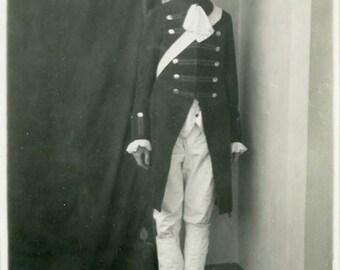 "Vintage Photo ""Theatre Major"" Boy Wearing Costume Snapshot Photo Old Antique Photo Black & White Photograph Found Photo Paper Ephemera - 90"