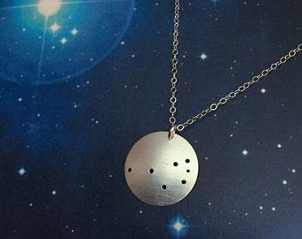Pleiades Seven Sisters Constellation sterling silver necklace