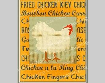 Chicken Kitchen Wall Decor chicken wall art | etsy