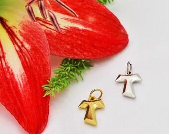 Tau cross pendant, Franciscan Tau Cross, St Anthony Cross, St Francis Cross, Old Testament Cross,  Advent Cross