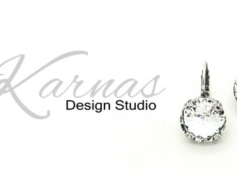 CRYSTAL CLEAR 14mm Crystal Drop or Stud Earrings Made With Swarovski Elements *Pick Your Finish *Karnas Design Studio *Free Shipping