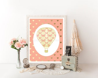 Hot Air Balloon Nursery, Hot Air Balloon Decor, Hot Air Balloon Printable, Hot Air Balloon Nursery, Hot Air Balloons, Balloon Print 0251