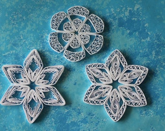 ST. ANTON snowflakes - Paper quilled ornamets - Christmas decoration - Handmade gift
