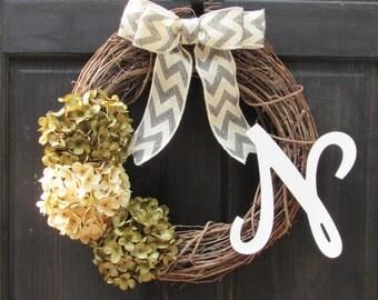 Front Door Wreath, Monogram Wreath, Initial Wreath, Personalized Wreath, Monogram Door Wreath, Initial Door Wreath, Monogram Door Decor