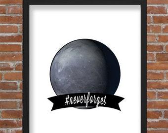 Pluto #Neverforget Wall Art