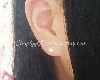 Simple Single Ear Cuff Conch Ear Cuff Cartilage Helix Earring Clip On, No Piercing Jewelry - Sterling Silver, 14K Gold Filled