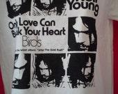NEIL YOUNG shirt retro 70s Unworn After the Goldrush Only Love Can Break Your Heart  weed stoner twee Kurt Vile  Fleetwood Mac grateful dead