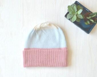 Beanie Pasteltöne 100% Merino, weiche Mütze, hautfreundliche Haube, watercolor pastel shade Kopfbedeckung