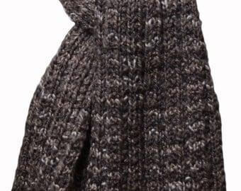 Knit Scarf - Natural Brown Yakkity Yak Trail Ridge Rib