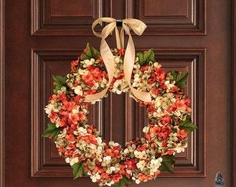 Blended Hydrangea Wreath | Front Door Wreaths | Summer Wreaths | Exquisite and Unique Door Wreath |  Porch Decor | Fall Decor