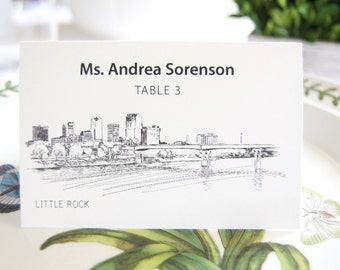Little Rock Skyline Folded Place Cards (Set of 25 Cards)