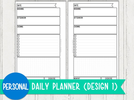 personal daily planners