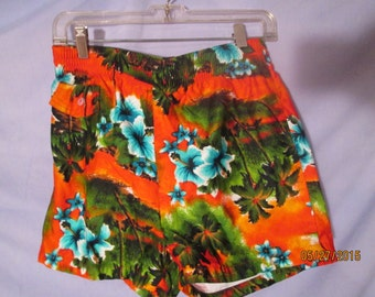 Vintage MADE IN HAWAII Mens Swim Trunks  by, Hukilau Fashions   size M