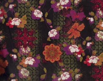 BTY Asian Inspired Print 100% Cotton Quilt Craft David Textiles Fabric by the Yard