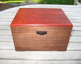 Walnut Keepsake Box with Striking Padauk Lid