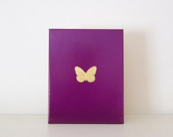 BUTTERFLY - Purple Butterfly Decoration - Gold Butterfly Decoration - Butterfly Wall Art - Butterfly Nursery Decoration - Purple Girls Room