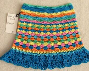 Crochet skirt girl S mt (mt 92-98-104)