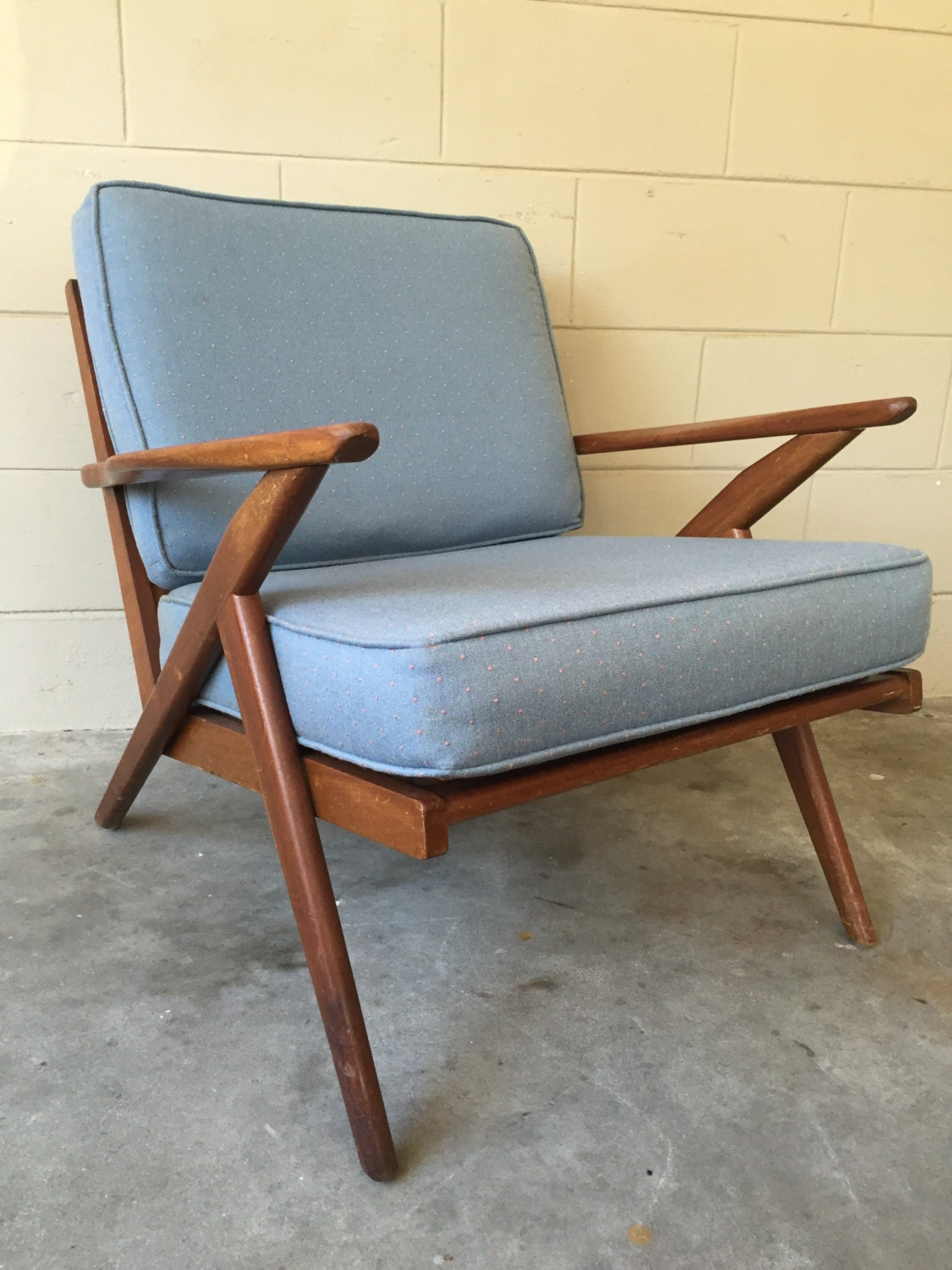 Selig inspired mid century modern vintage z chair haute for Z chair mid century