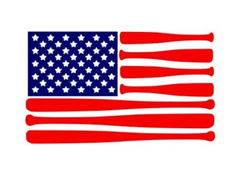 American Flag Bats instant download cut file for cutting machines - SVG DXF EPS ps Studio3 Studio