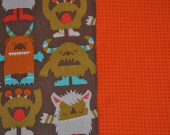 Monsters II Baby Blanket - cotton