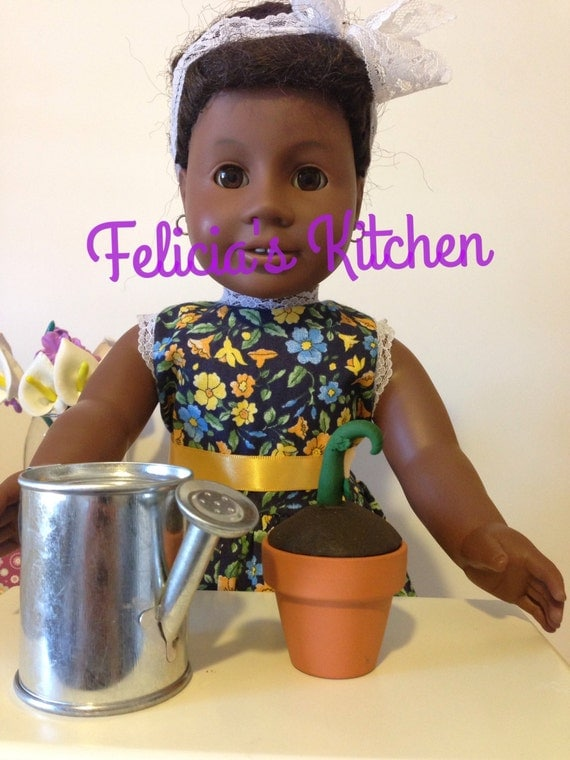 Items similar to garden start up for american girl dolls for Garden tools for 18 inch doll