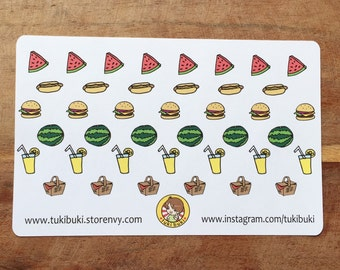 Summer Picnic Stickers