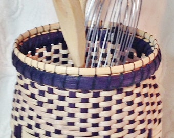 Handwoven container basket