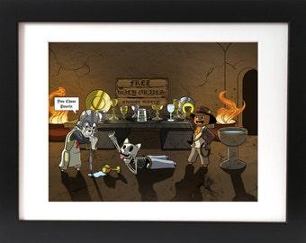 Indiana Jones & the Last Crusade - Digital Print