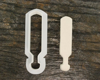 Greek Paddle Cookie Cutter, Mini and Standard Sizes, 3D Printed