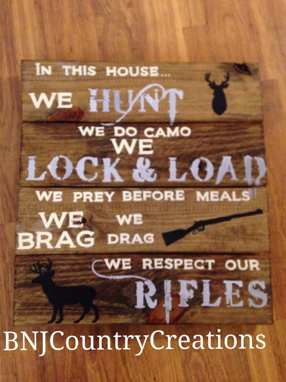 Country Rustic Man Cave : Items similar to hand painted country rustic hunting sign