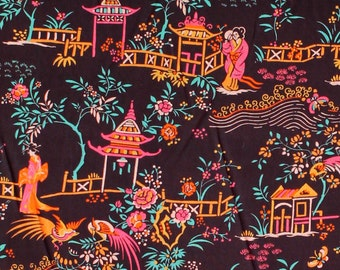 "Liberty of London Tana Lawn 2015 Autumn/Winter Art Collection PEONY PAVILION C - sold by XL Fat Quarter (19.75"" x 26.75"") or by 1/4 Metre"
