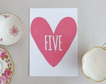 Simply Love Double Sided Wedding Table Number A5