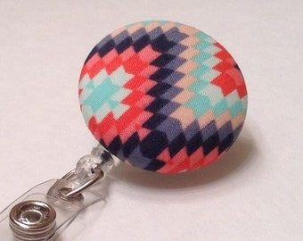 Badge Reel, Retractable Badge Holder, Nurse Key Card Holder, Swivel Badge Clip, ID Holder, Name Badge Holder, Retractable Lanyard, Aztec